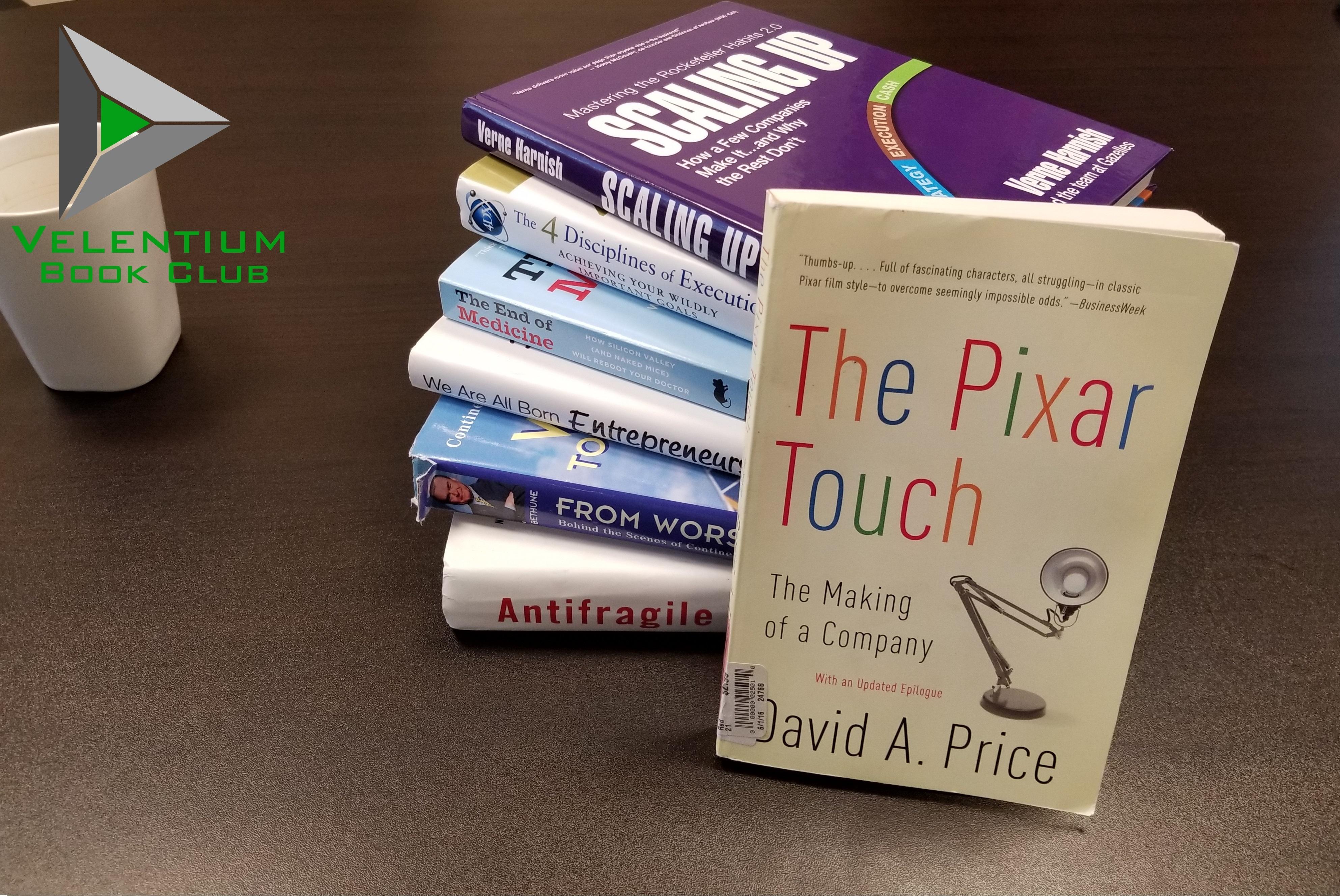 Velentium Book Club: The Pixar Touch